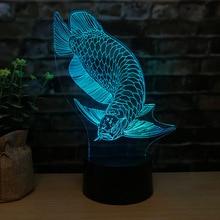 Nouveau type de Dragon dor 3d lampe de nuit tactile télécommandé Led Vision 3d lampe cadeau créatif Led veilleuse