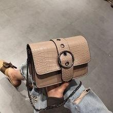 Retro Fashion Female Square bag 2019 New Quality PU Leather Women bag Crocodile pattern Tote bag Lock Shoulder Messenger Bags