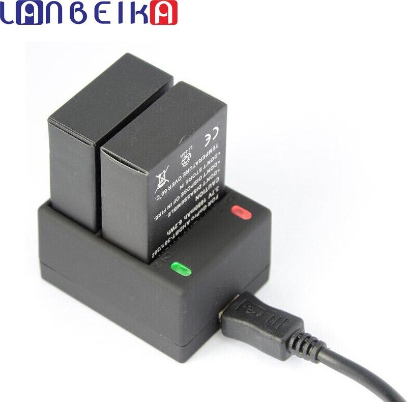 Зарядное устройство LANBEIKA для Gopro, USB зарядное устройство с двумя аккумуляторами 302, AHDBT-301, аксессуары для Gopro Go Pro Hero 3 Hero3
