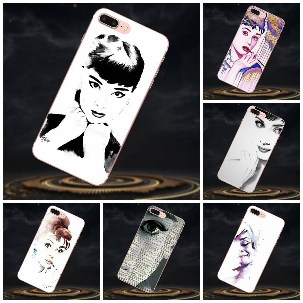 Caja de goma del teléfono celular acuarela Audrey Hepburn para Huawei Mate 7 8 9 10 P7 P8 P9 P10 P20 Lite más Pro GR5 P inteligente 2017