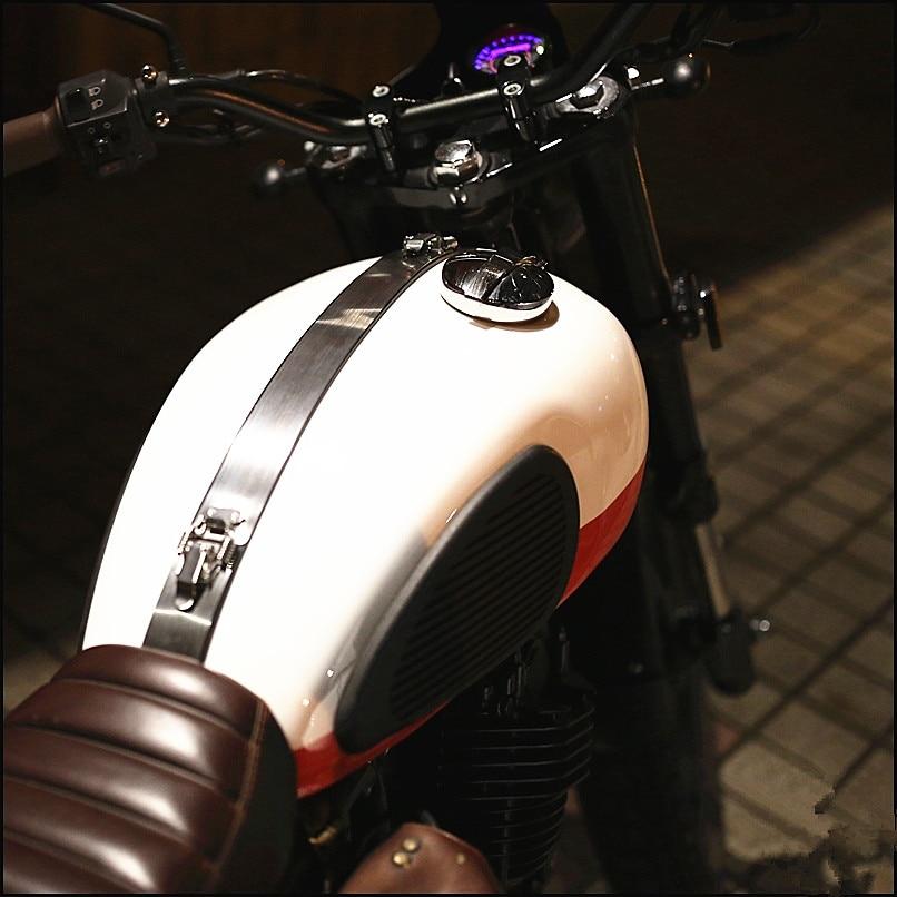 Nieuwe Cafe Racer vintage Motorfiets tank cover Decal Stickers moto Roestvrij maatwerk pegatinas moto