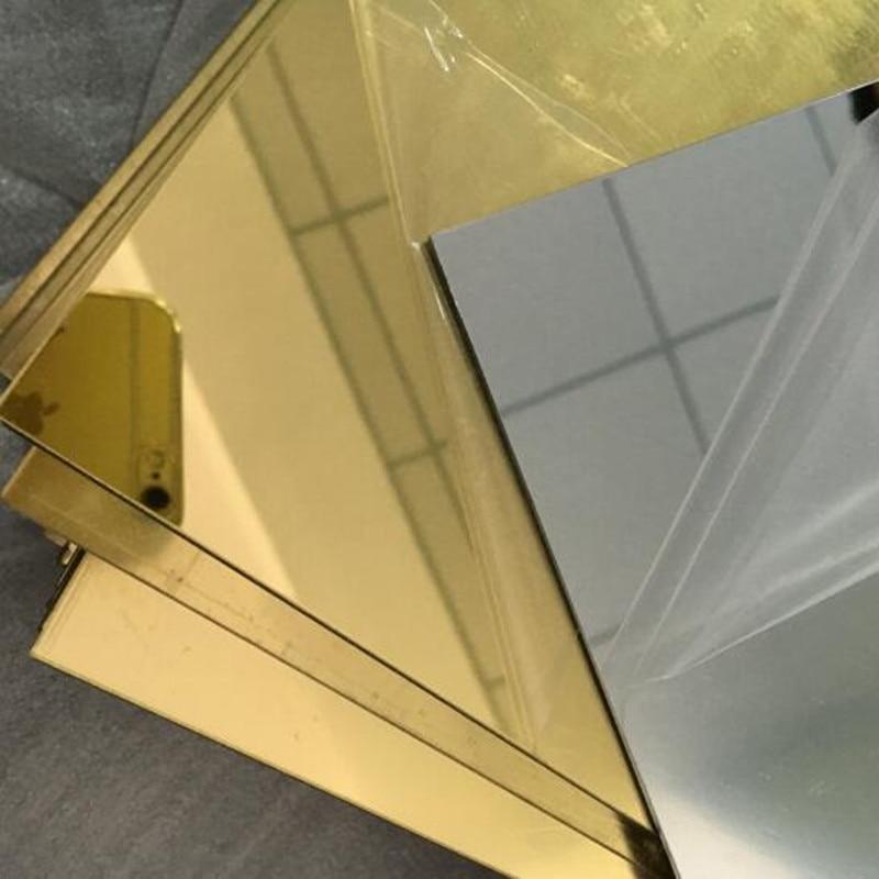 Акриловые большие настенные зеркала для гостиной, декоративные пластиковые зеркала для душа и бритья, длина пола 15 шт., 600x400x1 мм