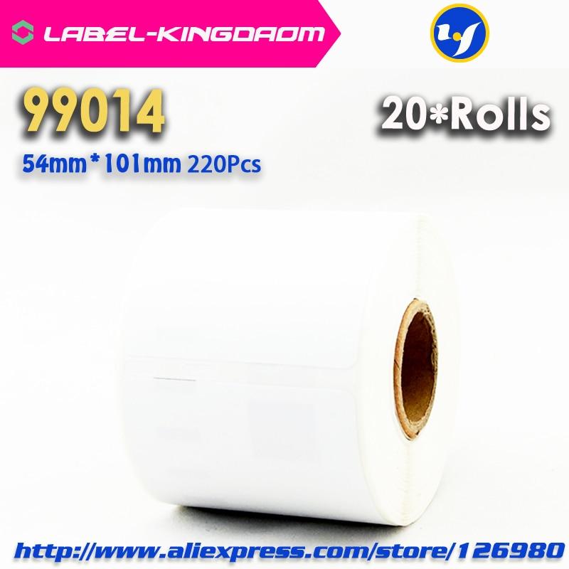 20 Rolls Dymo 99014 Kompatibel Label 54mm * 101mm 220 Pcs/Roll Weiß Kompatibel für LabelWriter 450 turbo Drucker