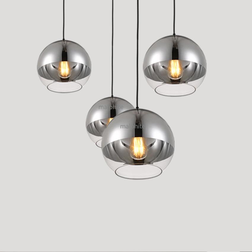 Modern Electroplating Ball LED Light Fixture Living Room Simple Pendant Lamp American Style Home Decor Lighting Pendant Lights