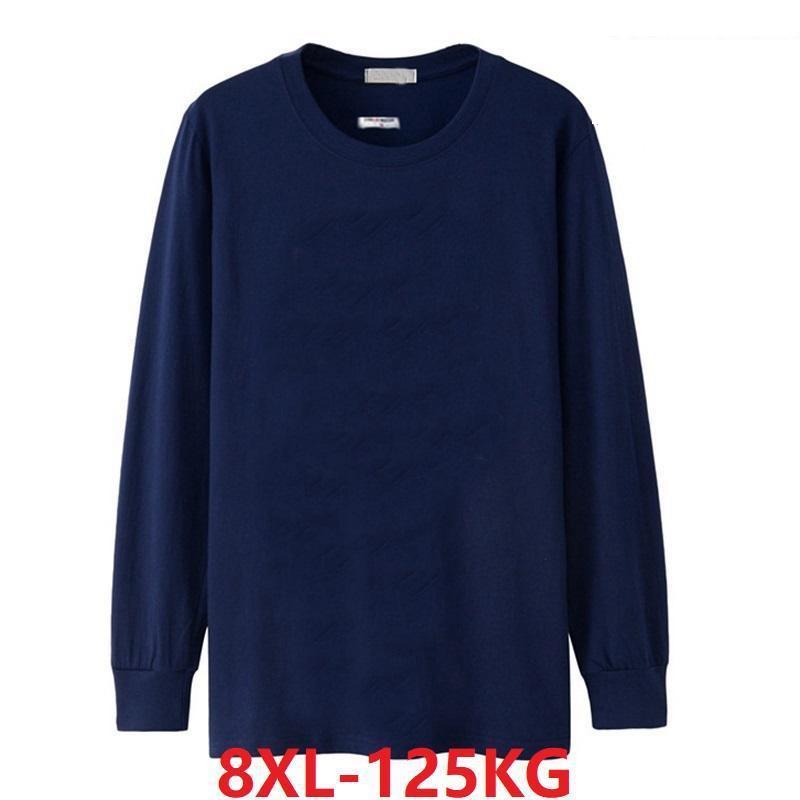 Winter Men's T-Shirt 5XL 8XL Long Sleeve Cheap Big Sale Autumn XL Large Size 7XL 6XL T-Shirt Cotton Home Black T-Shirt