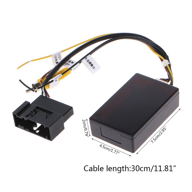 Cámara de respaldo de coche, retrovisor RGB a convertidor AV, caja adaptadora, nuevo