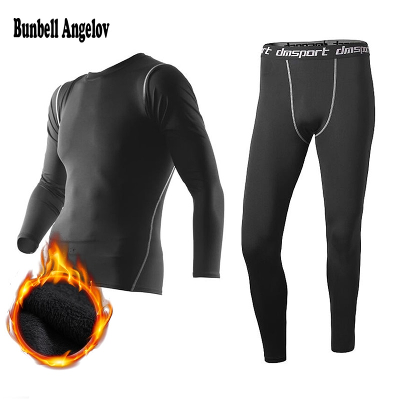 New Winter Thermal Underwear Pant+Clothing Men Quick Dry Warm Long Johns Set Male Warm Fitness Therm