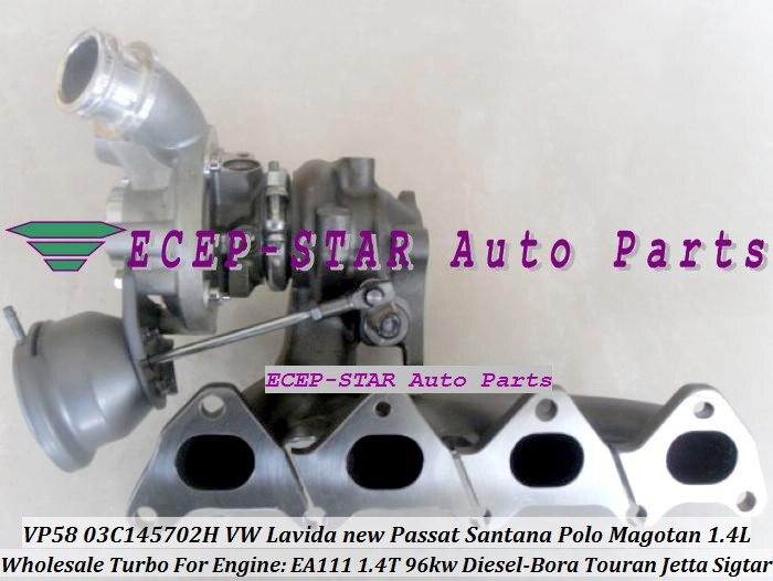 VP58 03C145702H Turbo para VW LAVIDA nuevo Passat Santana Polo Touran Magotan Bora Jetta Sigtar para A3 Octavia EA111 1.4L 1,4 T 96KW