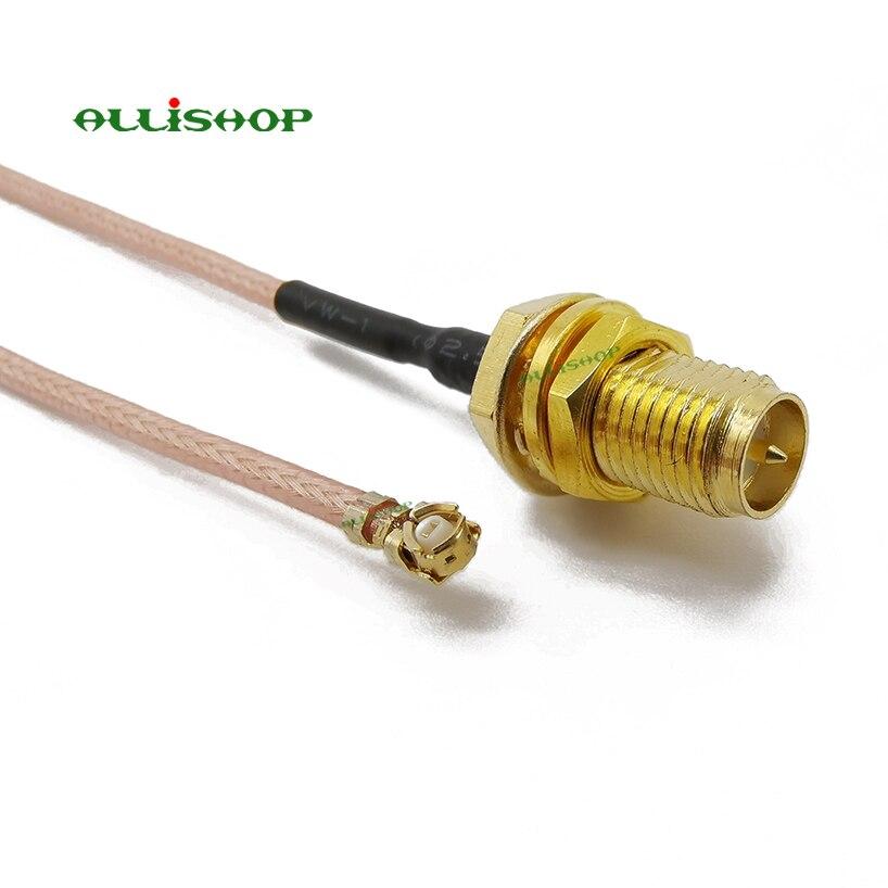 CABLE DE EXTENSIÓN U. FL IPX a RP-SMA conector hembra cable flexible de puente RF de antena para tarjeta Wifi de PCI RP-SMA Jack a IPX RG178