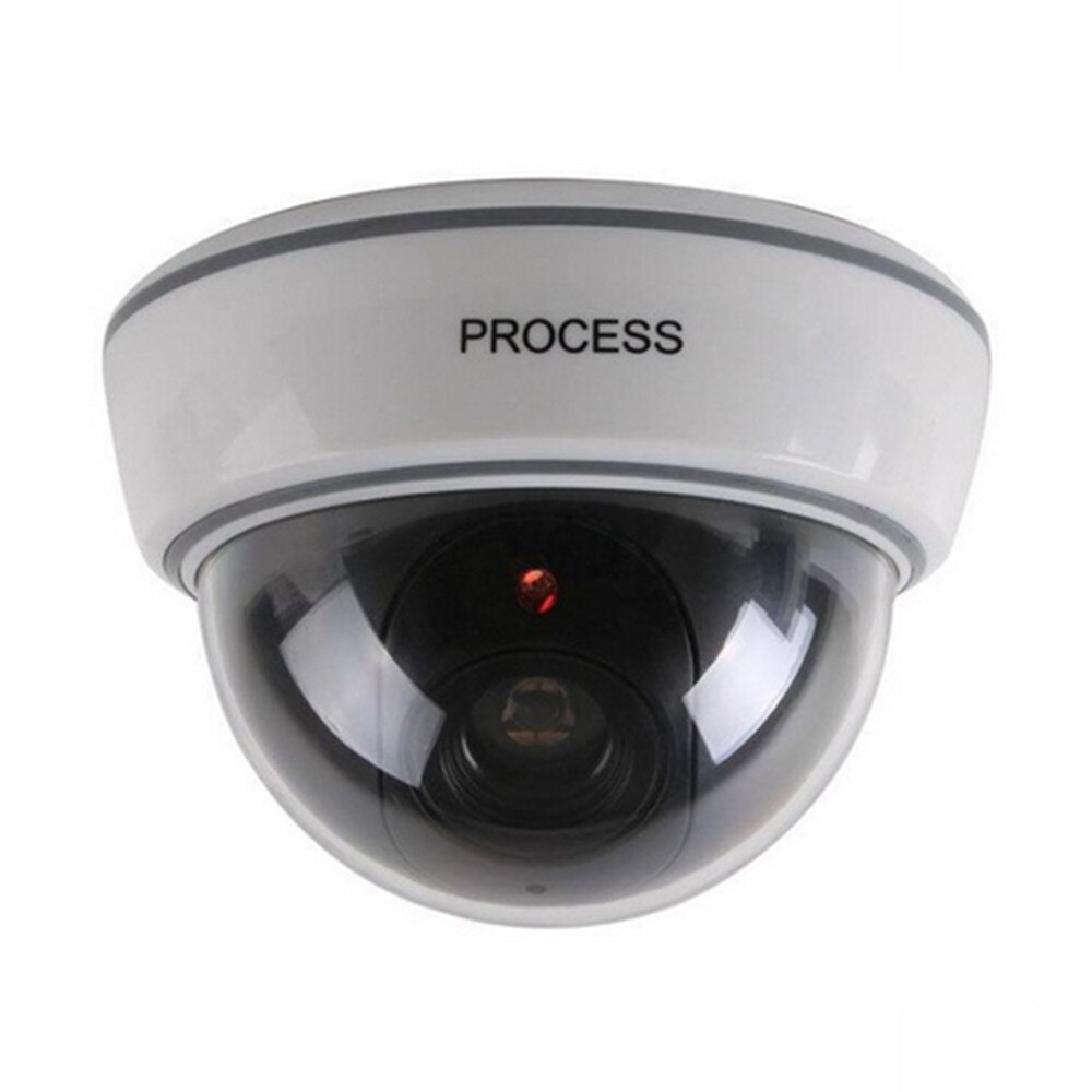 Cámara domo falsa simulación simulada Cámara seguridad vigilancia Cámara roja LED parpadeante luz cámara interior exterior