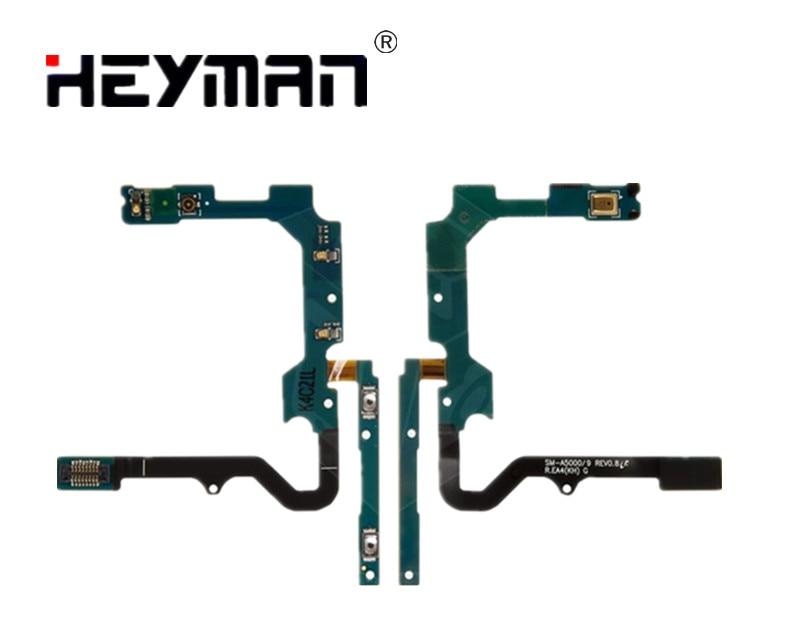 Botón cable Flex para Samsung Galaxy A5, A500F/A500FU/A500H/A500M piezas de repuesto (botón de sonido, con componentes)