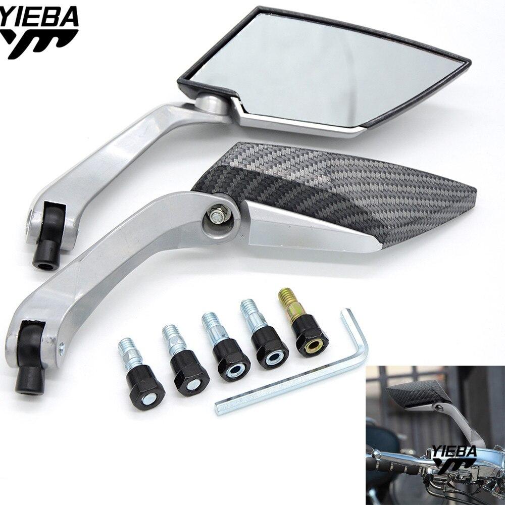 Retrovisor para motocicleta espejo lateral ATV Off-road de la bici de la suciedad de fibr para KTM BX 570 Motard AJP MX 200 WR250 KTM150 EXC450 250