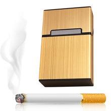 Étui à cigarettes pour fumer, en aluminium, personnalité 2018, étui de poche pour cigare pour homme, étui de rangement, boîte cadeau