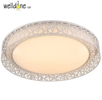 free shipping led iron bird nest ceilling lamp engraving flower bedroom lamp acrylic lampshade ceiling lamp 85 265v