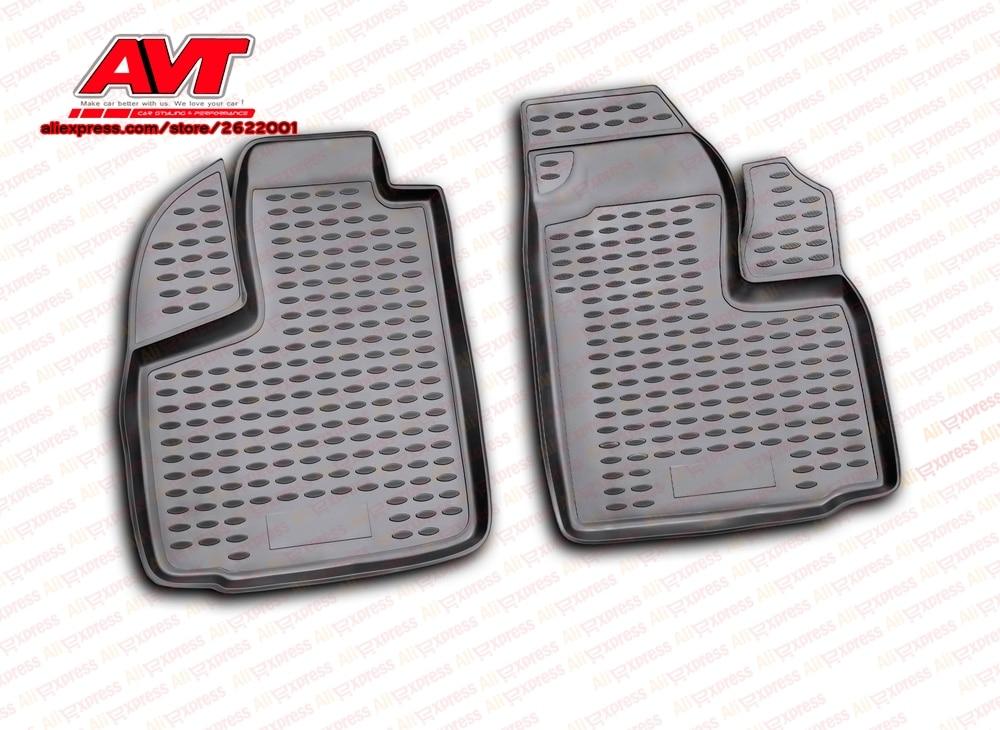 Floor mats for Fiat Doblo Cargo 2001- 2 pcs rubber rugs non slip rubber interior car styling accessories