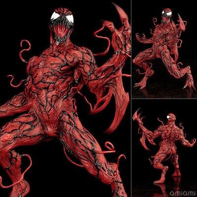 Ahora Carnage Spiderman nuevo 52 estatua Kotobukiya PVC colección de figuras de acción modelo muñeca juguete para regalo 16cm