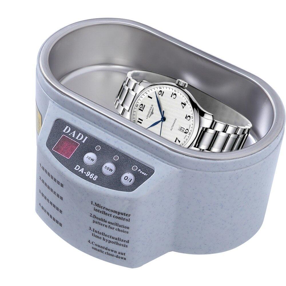 Limpiador ultrasónico inteligente Adoolla de acero inoxidable, lavado por ultrasonidos en ondas para gafas de joyería, máquina de baño con ultrasonido