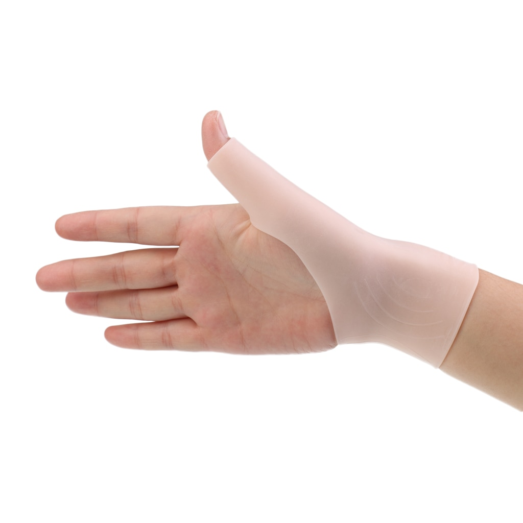 Gel de silicona para hombres y mujeres adultas, guante de sujeción para la muñeca para pulgar, Tenosynovitis, espasmos, envoltura para artritis, para pulgar y muñeca, dolor
