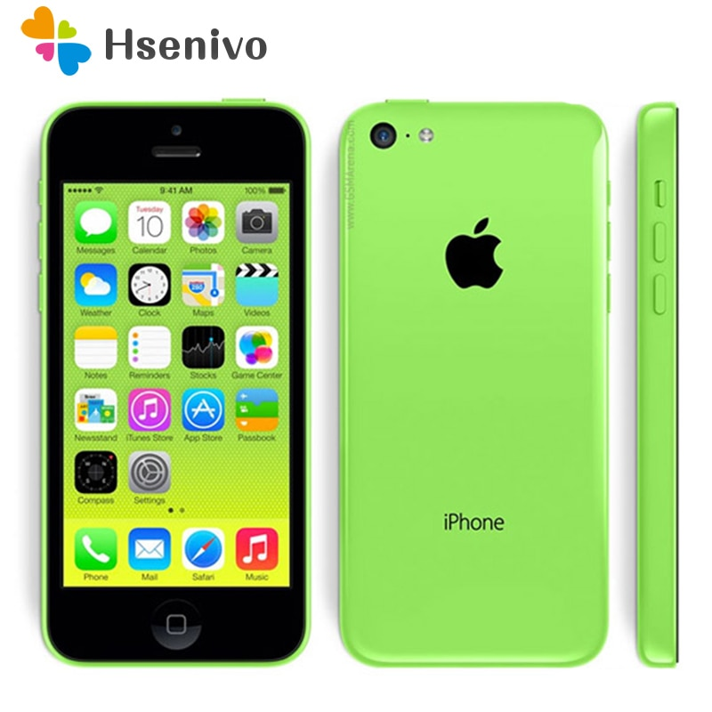 "Hot sale Original Unlocked Apple iPhone 5C iOS Dual Core 8GB/16GB/32GB 8MP Camera 4.0"" WIFI GPS 3G Cell Phone refurbished"