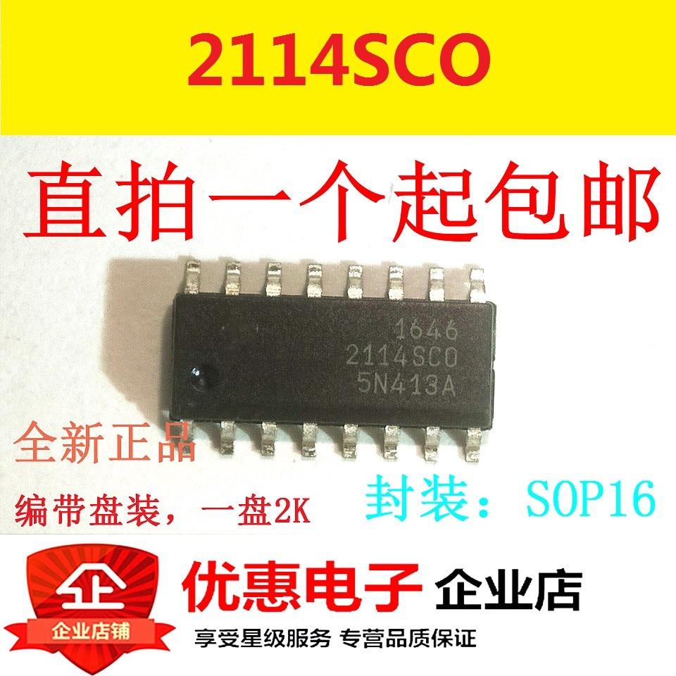 10 pcs original Novo 2114SCO 2114SC0 SOP16 patch 16 pés