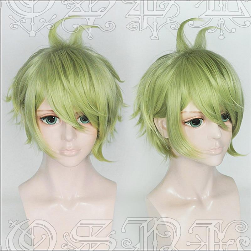 Peluca de Cosplay con estilo Amami Rantarou, juego Danganronpa V3: Killing Harmony Cos, pelucas de pelo + gorro de peluca