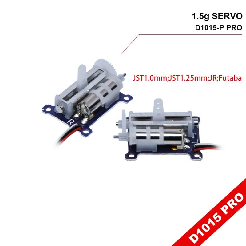D1015 Pro 1,5g gran carrera lineal Servo 0.24kg.cm empuje Mini engranaje de dirección 3,7-6 V para 3D Micro Drone Heli Robot ala fija