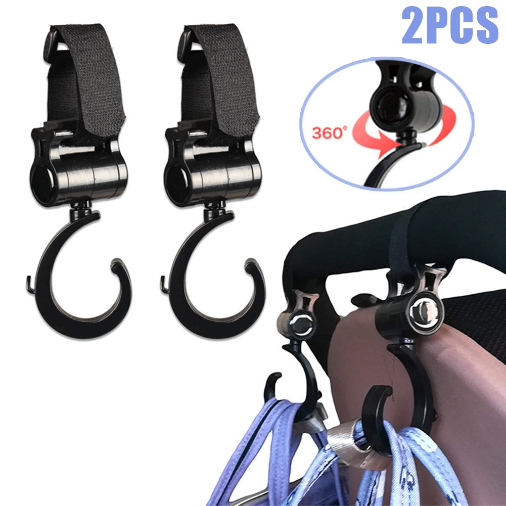 2 Pcs Baby Stroller Accessories Hooks Multifunction Baby Stroller Plastic Hook  S7JN