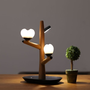 HZFCEW Magical Touch Control Love &Tree LED Eye Protection Desk Lamp USB Recharg Separate Design Bedroom Atmosphere Night Light