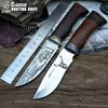 Couteau de chasse tactique rétro petits couteaux fixes tête en cuivre + manche en bois massif couteau de survie couteau de sauvetage portatif de Camping