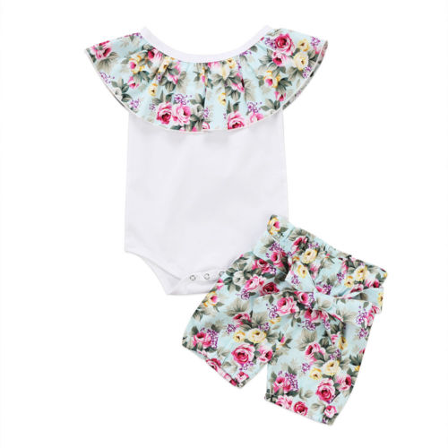 2 peças conjunto de roupas! Macacão de algodão para bebês recém-nascidos, calças e roupas curtas de 0 a 24 meses