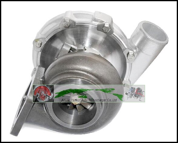 Envío Gratis Turbo solo enfriado por aceite T76 turbina A/R 0,68 compañía A/R 0,80 800HP-900HP T4 Turbo cargador T4 brida v-band turbocompresor