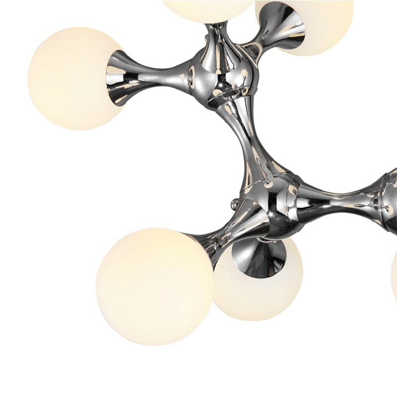 DNA creative glass ball pendant lights fixture modern DIY home decoration dining room iron pendant lamp G9 bulb enlarge