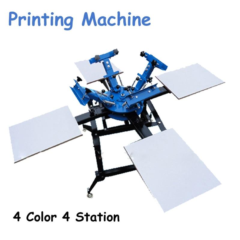 4 Color 4 Station Screen Printing Machine Comeswith Base Good Quality T-shirt Printing Machine