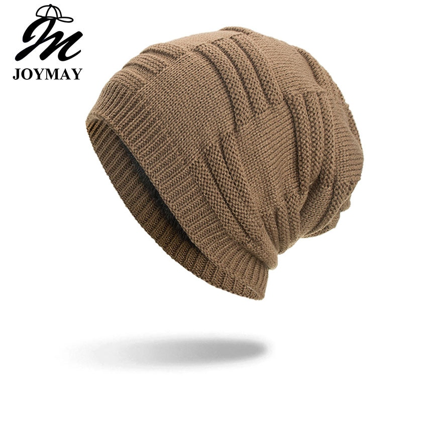 Joymay 2018 новая зимняя шапка Унисекс Skullies & Beanies вязаная шапка шапки Gorro шапки для мужчин и женщин дропшиппинг WM099