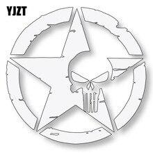 Yjzt 10.7CMX10.7CM Army Star Punisher Schedel Auto Stickers Decals Motorfiets Styling C1-6031