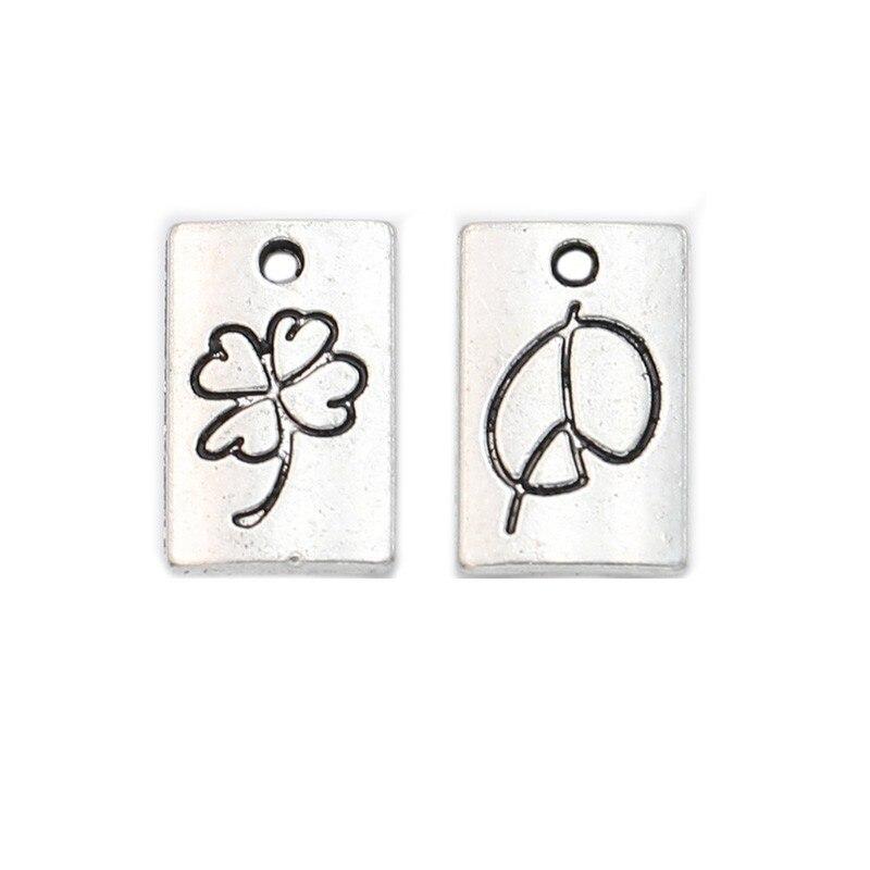 20 Pcs Antiek Zilver Plated Verliefd Lucky Charms Hangers Voor Sieraden Maken Sieraden Bevindingen Diy Handgemaakte Craft 15x10mm