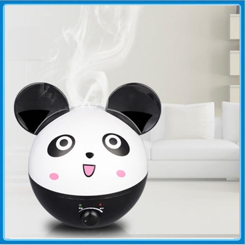 2L Panda Shape Ultrasonic Air humidifier Essential Oil Aroma Diffuser for Home & Office 220V Mist Maker Fogger