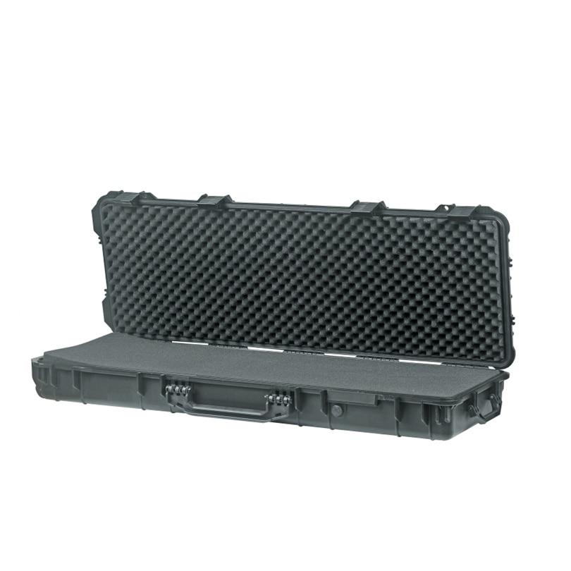 Long size 1066*343*133mm waterproof outdoor plastic gun case with uncut foam inside
