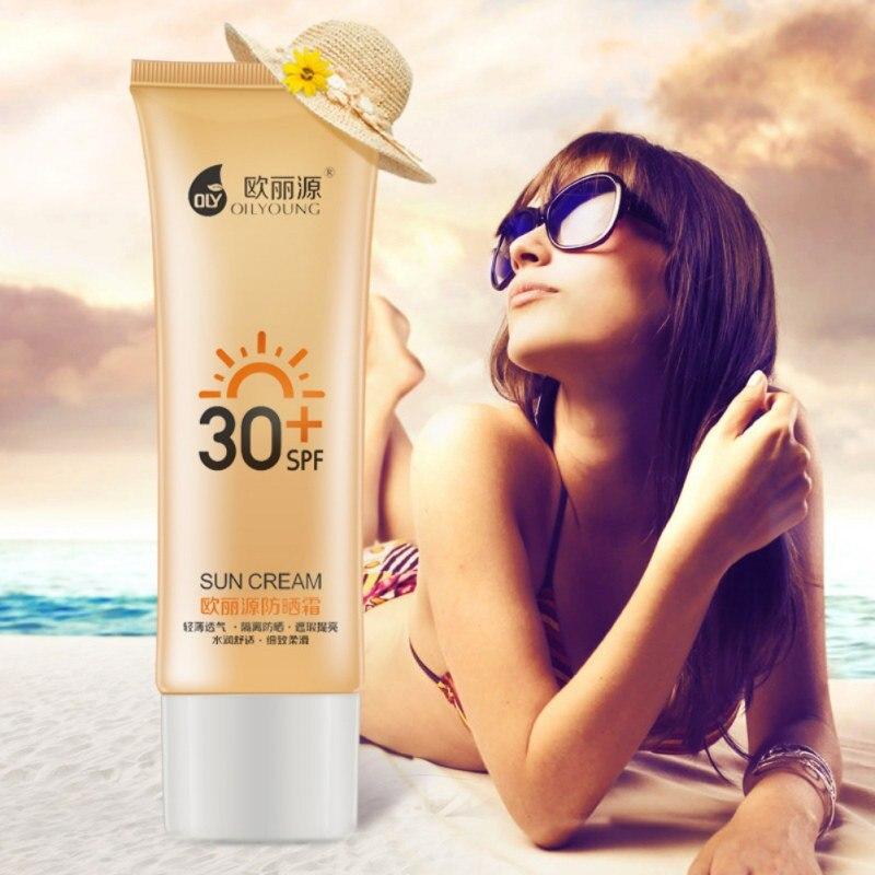 Crème solaire protecteur solaire crème pour le visage soleil peau filtre fond de teint SPF 30 + huile contrôle humidité Lotion solaire