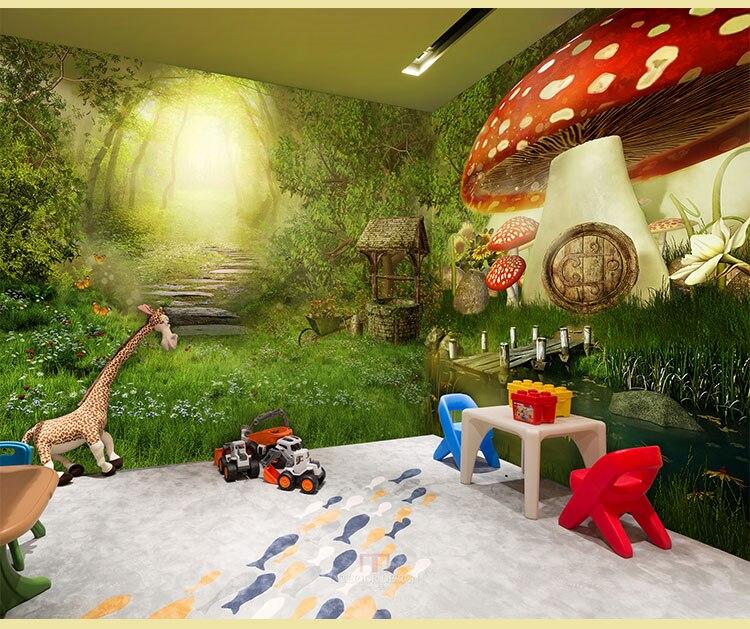 Fondo de bosque de cuento de hadas habitación de invitados sala de estar papel tapiz para habitación restaurante retro ktv bar net café habitación escape papel tapiz temático
