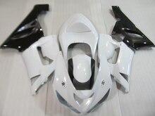 Kit de caronnages en ABS Kawasaki NINJA   Pour Kawasaki NINJA ZX 6R 2005 2006 marché des pièces de rechange zx6r 05 06 ensemble de caronnages blancs noirs HP22