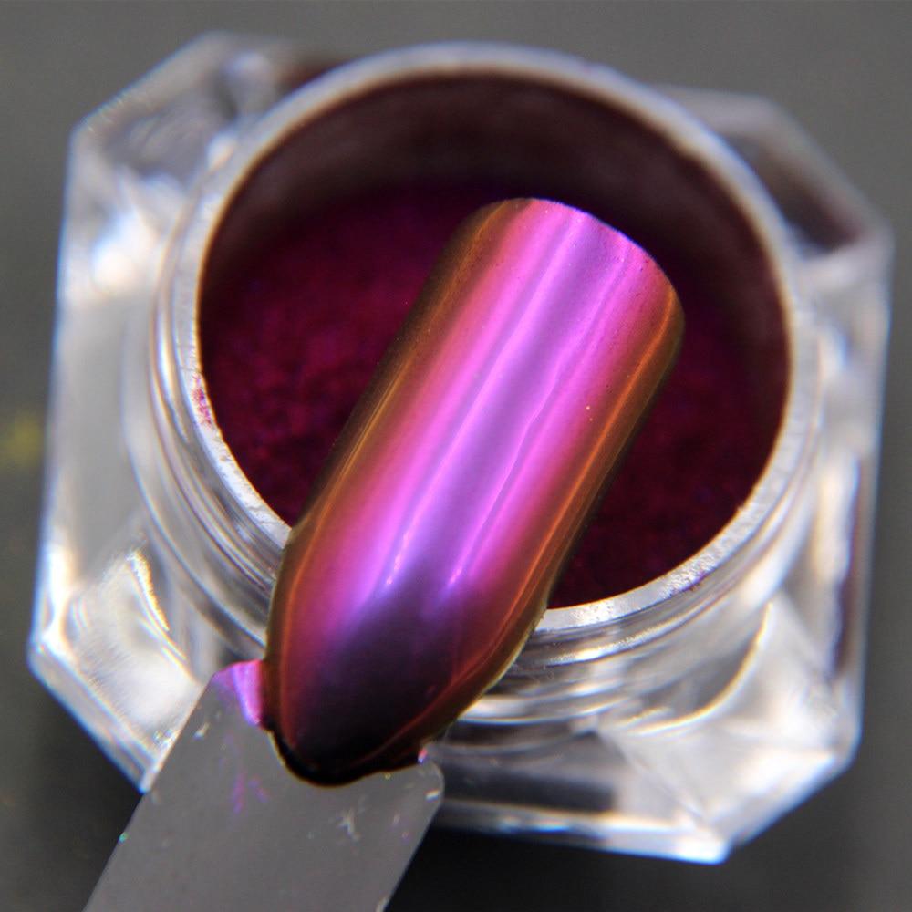 1 gram Chameleon Powders Unicorn Mirror Nail Pigment Chrome Nail Glitters Purple Pink Gold Multi-chrome Mica Pigment Decoration