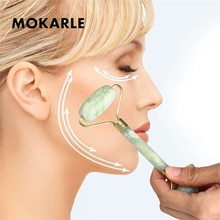 Natural Jade Roller Massage Facial Massager Small Relieve Pain Face Slimming Face Jade Push Beauty Equipment Massage Tool Health