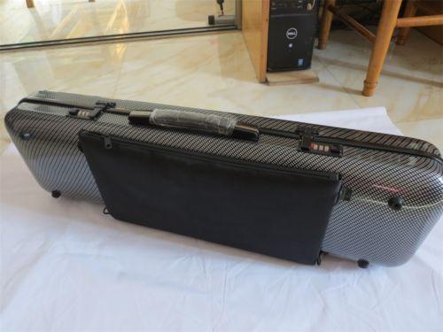5 uds nuevo modelo de caja de Violín de bloqueo codificado de fibra de carbono 4/4 con bolsa de música