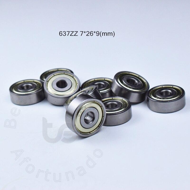 637ZZ 7*26*9(mm) Teniendo ABEC-5 9 Uds Metal sellado miniatura minirodamiento 637 637Z...