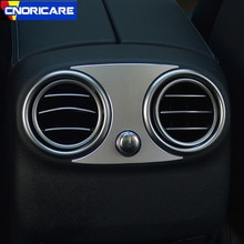 Paillettes de garniture de sortie de climatisation arrière de voiture dalliage daluminium pour Mercedes Benz classe C W205 E Classs W213 GLC X253 2015-18