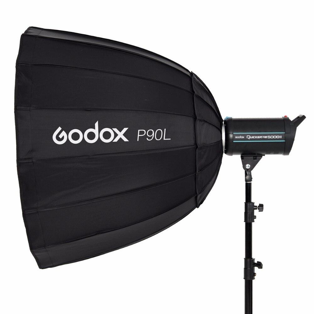 Godox-سوفت بوكس P90L محمول ، صندوق سوفت بوكس بوينز ، فلاش Speedlite ، عاكس استوديو الصور ، 90 سنتيمتر