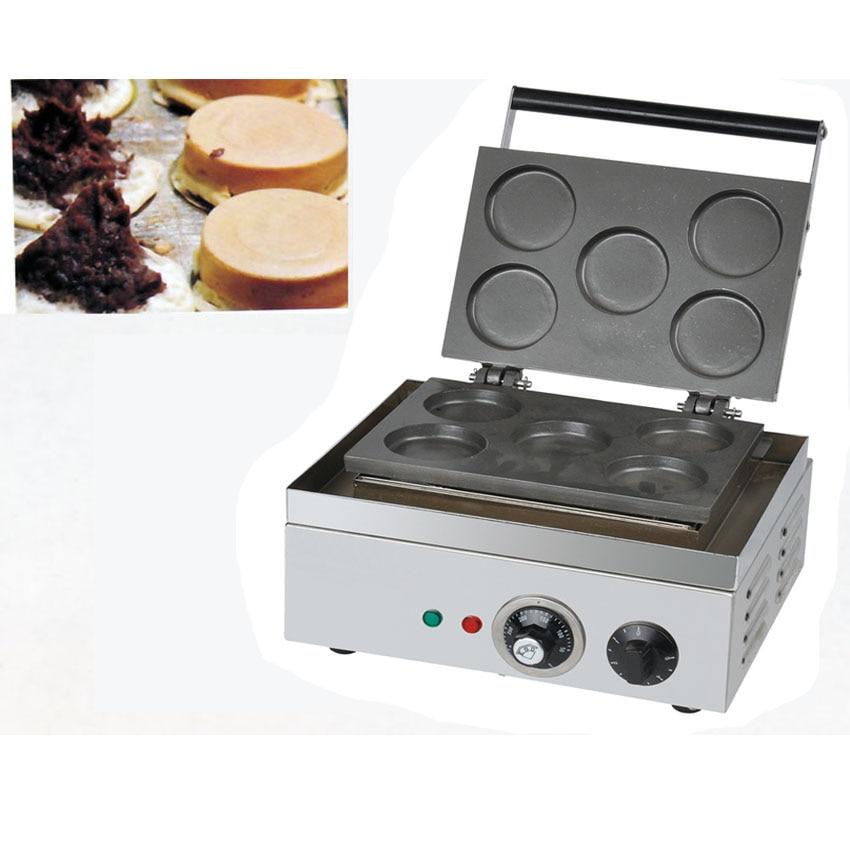 Gran oferta, máquina de hacer pasteles de pico rojo de 5 agujeros, máquina de hacer pasteles de capas con receta, máquina de gofres, máquina de gofres 1 unidad