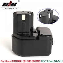 Ni-MH 3000mAh 12V 3.0Ah batterie doutil électrique pour Hitachi EB1214S 12V EB1212S DS 12DVF3 EB1220HL, EB1220HS, EB1220RS, EB1222HL