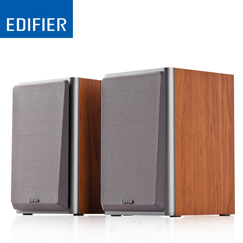 EDIFIER R1000T4 Portable Wood Speaker Uncompromising Sound Home Theatre Speakers with 4 inch Bass Driver Bass Speakers
